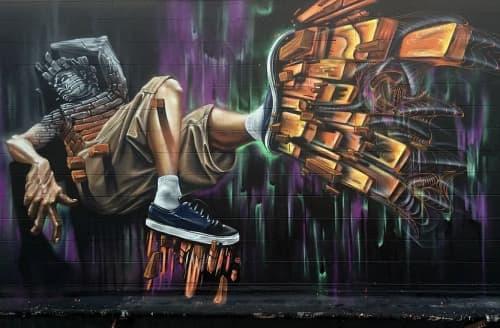 Murals by Max Ehrman (Eon75) seen at San Francisco, San Francisco - Off the Wall