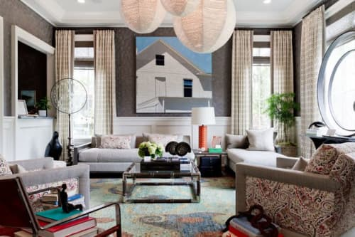 Paintings by Scott Redden seen at Private Residence, New York - 'Two Window' original oil painting by Scott Redden