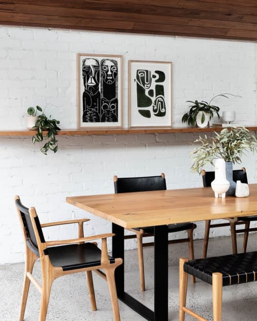 Chairs by Barnaby Lane seen at Private Residence, Melbourne - Fenwick Oak Dining Chair - Black