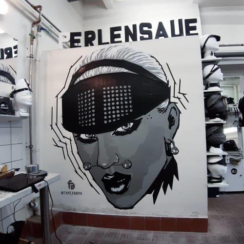"Tape Art Wall ""PERLENSAUE"" | Murals by Fabifa | PERLENSAEUE Berlin in Berlin"