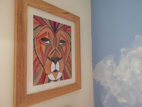 Commission - Roary Lion   Paintings by Geo-Wild Designs (Mahayla Clayton)