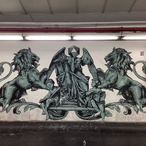 Lions Mural   Street Murals by Luca Maleonte
