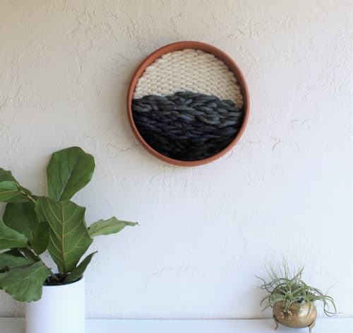 River - Terracotta & Fiber Wall Sculpture   Wall Hangings by Keyaiira   leather + fiber   Reveal Hair Studio in Santa Rosa
