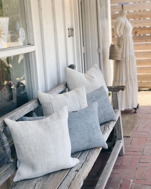Single Sided Vintage Hemp Pillows | Pillows by HOME