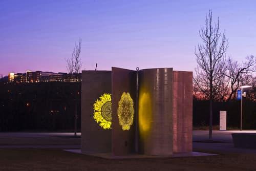 Sculptures by Deedee Morrison seen at Xavier University of Louisiana, New Orleans - Sun Catcher