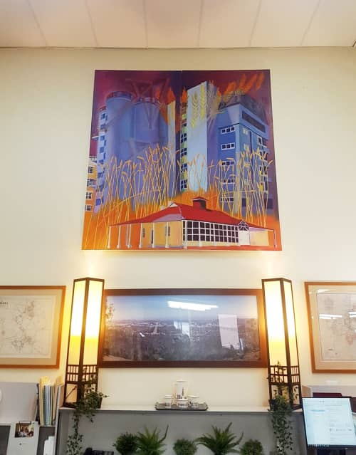 Flour Mill | Paintings by Paul Martin | Canberra in Canberra