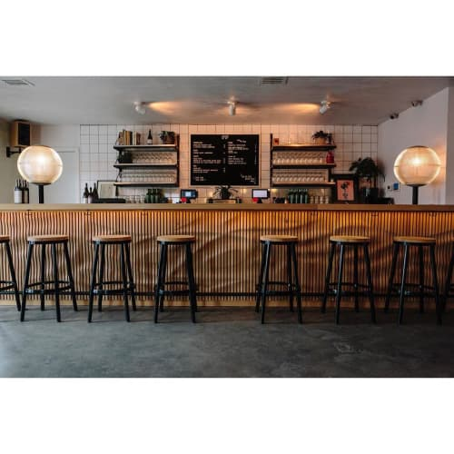 Tables by Mule Studio seen at LoLo, Austin - Bar Top