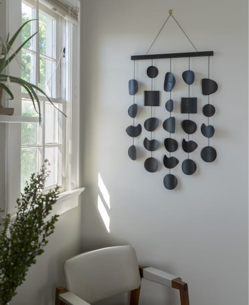 Sediment Wall Hanging in Black Patina   Sculptures by Circle & Line