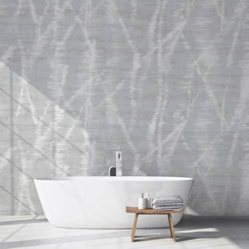 Wallpaper by Jill Malek Wallpaper - Refractions   Oak