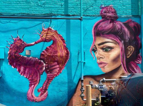 Seahorse Danceathon | Murals by Julia Morgan (Aerose Art)