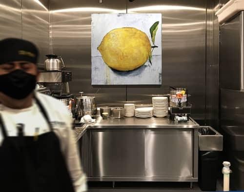 Lemon In The Kitchen & NC State Flag Art for Restaurant | Public Art by ERIN ASHLEY | 131 MAIN Restaurant in Cornelius