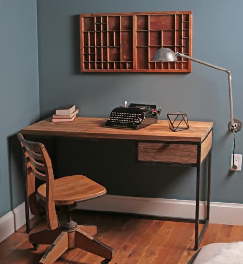 Kai Solid Wood Desk   Tables by From the Source