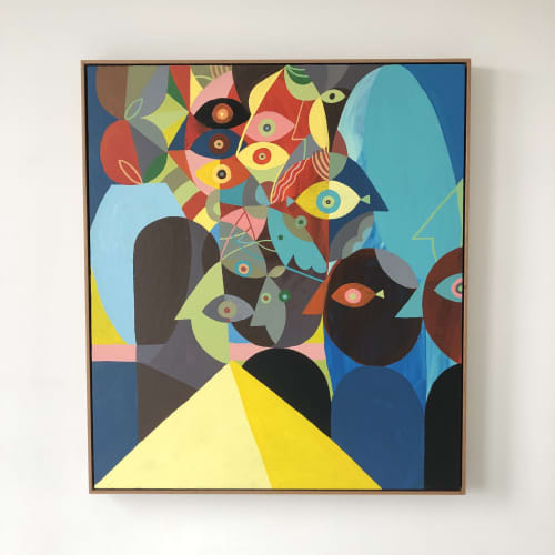 Paintings by Unwell Bunny / Ed Bechervaise - Mykonos in Transit
