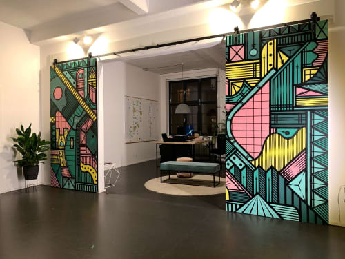 Murals by Isakov seen at Private Residence, Berlin - Das Kartel