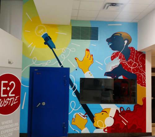 Murals by Emily Alvarez seen at Bridge Space, Lee's Summit - It's On