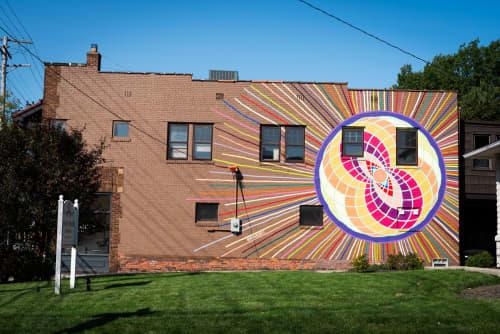 Street Murals by Maureen Walsh seen at 15526 Madison Ave, Lakewood - Illuminate