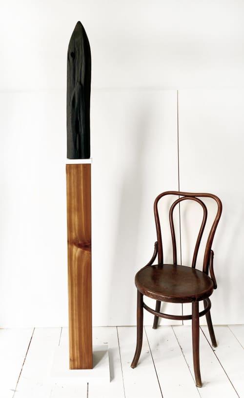 Untitled 61, Cedar Sculpture   Sculptures by Neshka Krusche
