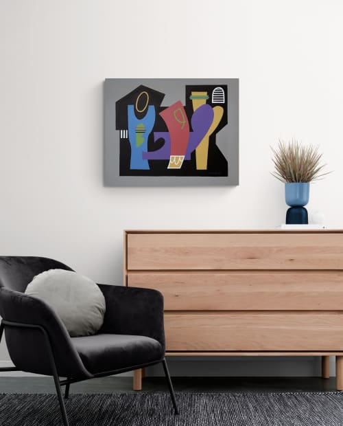 Crown thy Good abstract canvas painting | Paintings by Gwen Gunter