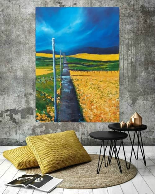 """""""Ocean of gold""""-SOLD   Paintings by Sabine Hahnel"""
