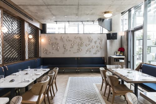 Porcelain at Portsmith Restaurant | Sculptures by Indiewalls | Design With Art | Portsmith in Chicago