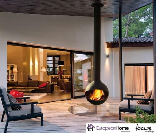 Interior Design by European Home seen at 30 Log Bridge Rd, Middleton - Bathyscafocus Outdoor Wood Fireplace