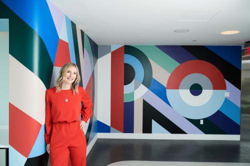 Murals by Meg Biram seen at Vienna, Vienna - ADAIRE Abstract Mural