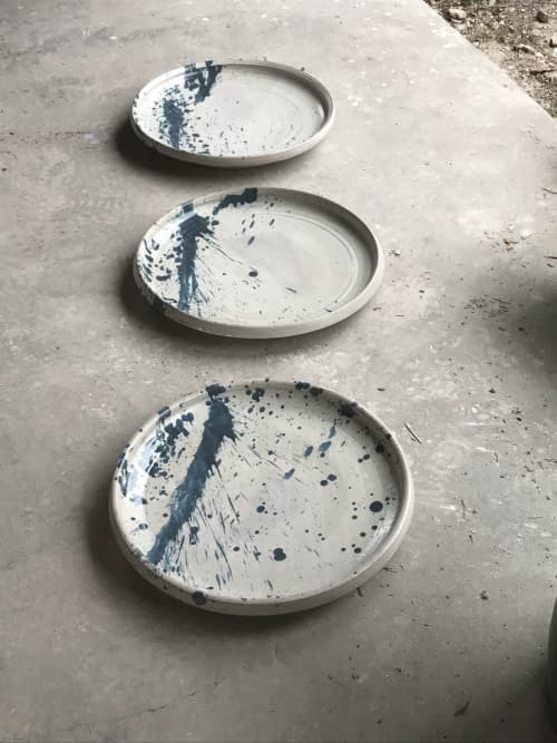 Ceramic Plates by Lynn Mahon at Lokoya Winery, Spring Mountain Road, Saint Helena, CA, Saint Helena - Abstract Splash Plate