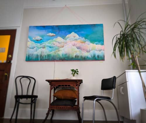 Paintings by Sarah Stivers seen at One Mind Massage, Portland - Clouds