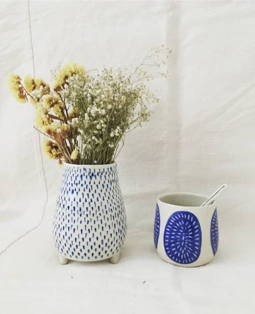 Blue and white ceramics   Tableware by Anna Bowie Ceramics   The Olive Tree Market in Newcastle