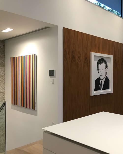 Paintings by OCEAN PLACE STUDIOS - ROMAN ROZUMNYJ seen at Private Residence, Winnipeg - STRIPES SERIES