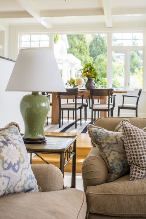 Lamps by Lawrence & Scott seen at Private Residence, Seattle, Seattle - Dashiell Celadon Crackle Porcelain Table Lamp