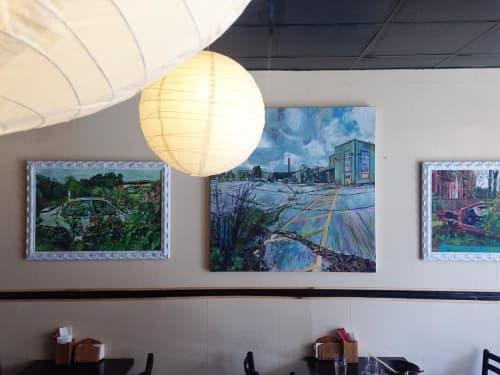 Paintings by Noel Hefele seen at Ryujin, Brooklyn - Series of Paintings