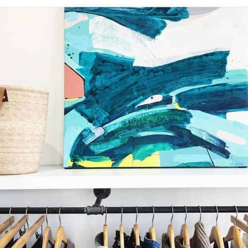 Paintings by Anne Abueva Studio at Winifred Grace, Chicago - Beach House