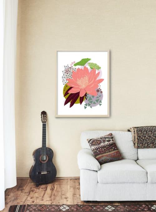 Paintings by Birdsong Prints seen at Creator's Studio, Denver - Lotus Art Print