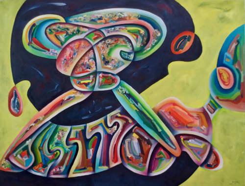 "Paintings by David Kraisler, artist seen at David Kraisler Artist, Sandpoint - ""A Crazy Twisting Architectural Thing"""