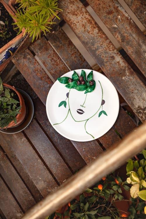Ceramic Plates by Patrizia Italiano seen at Creator's Studio - Oliva plate with reliefs