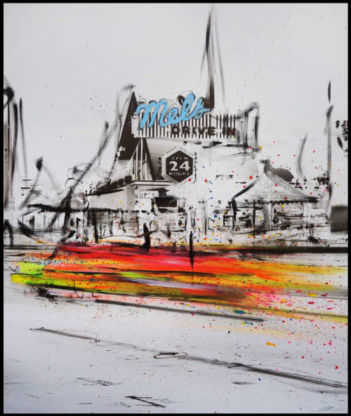 Paintings by Pete Kasprzak seen at Artspace Warehouse, Los Angeles - Mel's