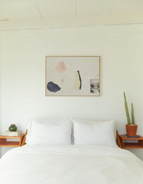 Paintings by maja dlugolecki - things i collected at the beach - linen print