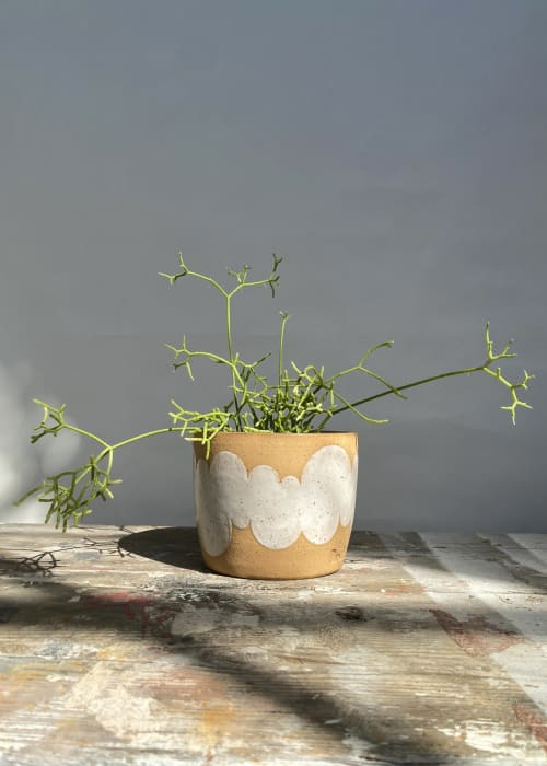 Vases & Vessels by Mineral Ceramics seen at Creator's Studio, Los Angeles - White Cloud Planter