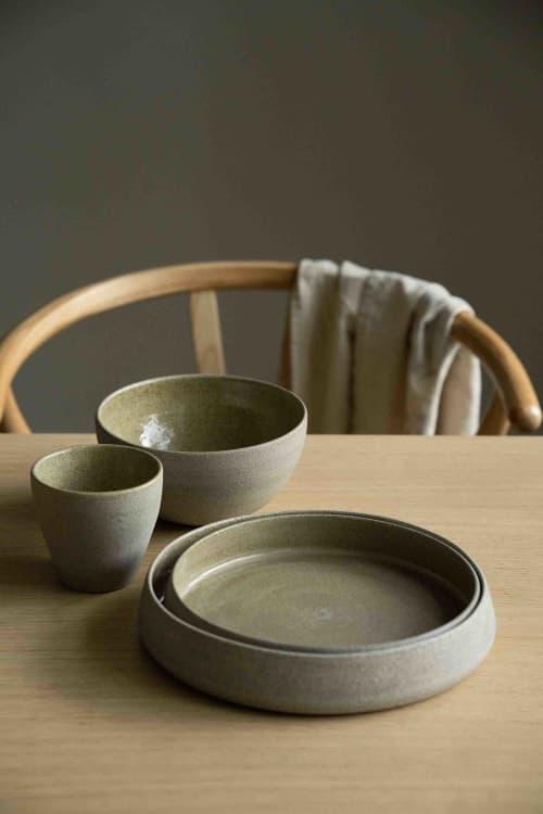 "Ceramic Plates by Creating Comfort Lab - HANDMADE STONEWARE DINNER SET ""CONCRETE"""