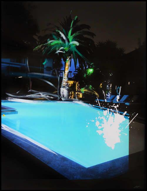 Paintings by Pete Kasprzak seen at V Wine Room, West Hollywood - Hollywood Gardens Nightswim
