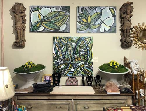 Magnolia I & II, Magnolia Becoming | Paintings by Debbie Daise Art    @Debbiedaiseart | Clutter Antiques in Dallas