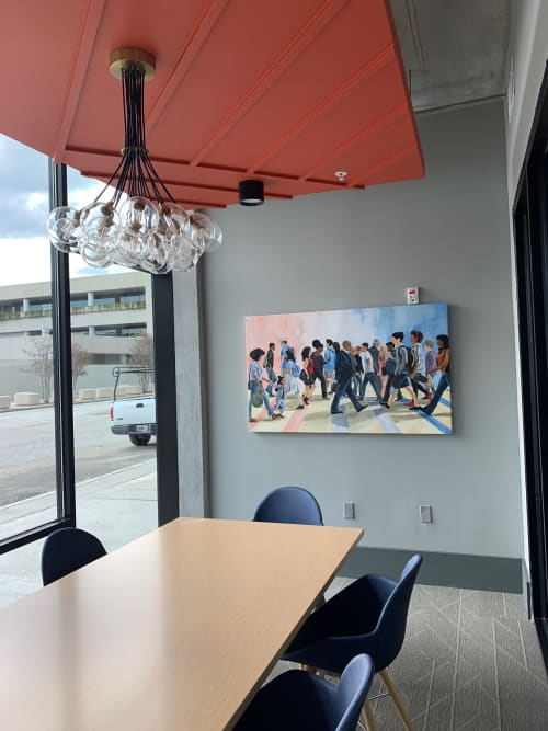 Walks of Life | Paintings by Keith Doles | Lofts at Jefferson Station Apartments in Jacksonville