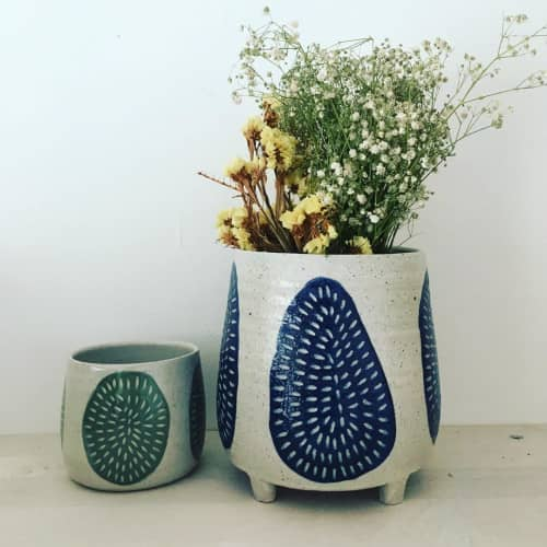 Sgraffito ceramics   Tableware by Anna Bowie Ceramics