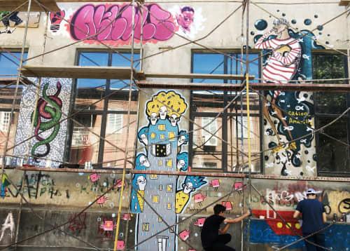 Fabrikaffitti 2016 and Masholand's First Street Art   Murals by Masholand   Fabrika Tbilisi in T'bilisi