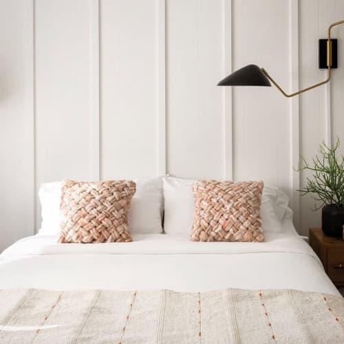 Pillows by Flax & Twine seen at Amigo Motor Lodge, Salida - Basketweave Pillow DIY KIT