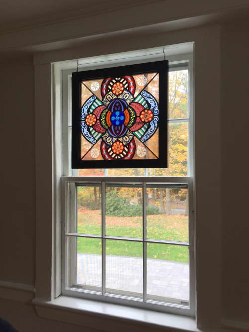 Grecian Yuzenzome   Art & Wall Decor by Kate Gakenheimer Stained Glass