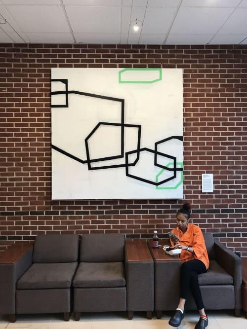 Somewhere Beyond or Behind E15, oil on canvas | Paintings by Steven Baris | Howard Gittis Student Center in Philadelphia