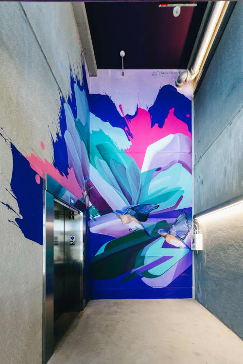Street Murals by Isenberg Projects at Arsenal Yards, Watertown - Parking Garage Mural