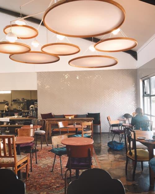 Chandeliers by Louw Roets at Schoon Manufactory Café, Stellenbosch - Bent Wood Chandelier